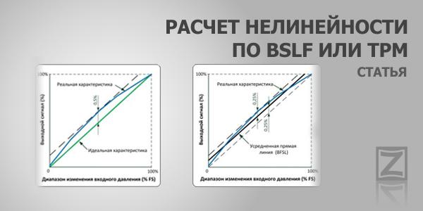 Погрешность измерений преобразователей давления: Расчет нелинейности по BFSL или TPM
