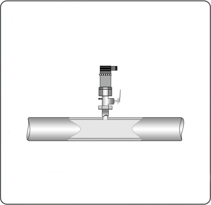 Измерение давления газа. Для измерения давления газа нужно устанавливать датчик максимально близко к магистрали сверху под углом 90°.