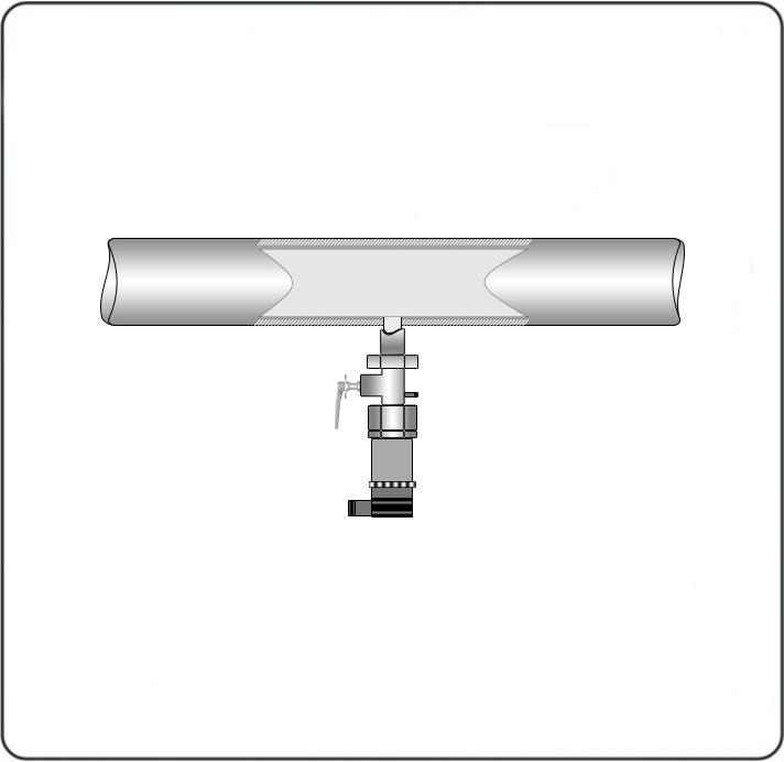 Измерение давления жидкости. Датчик давления для измерения жидкости устанавливается снизу под углом 90о максимально близко к магистрали.