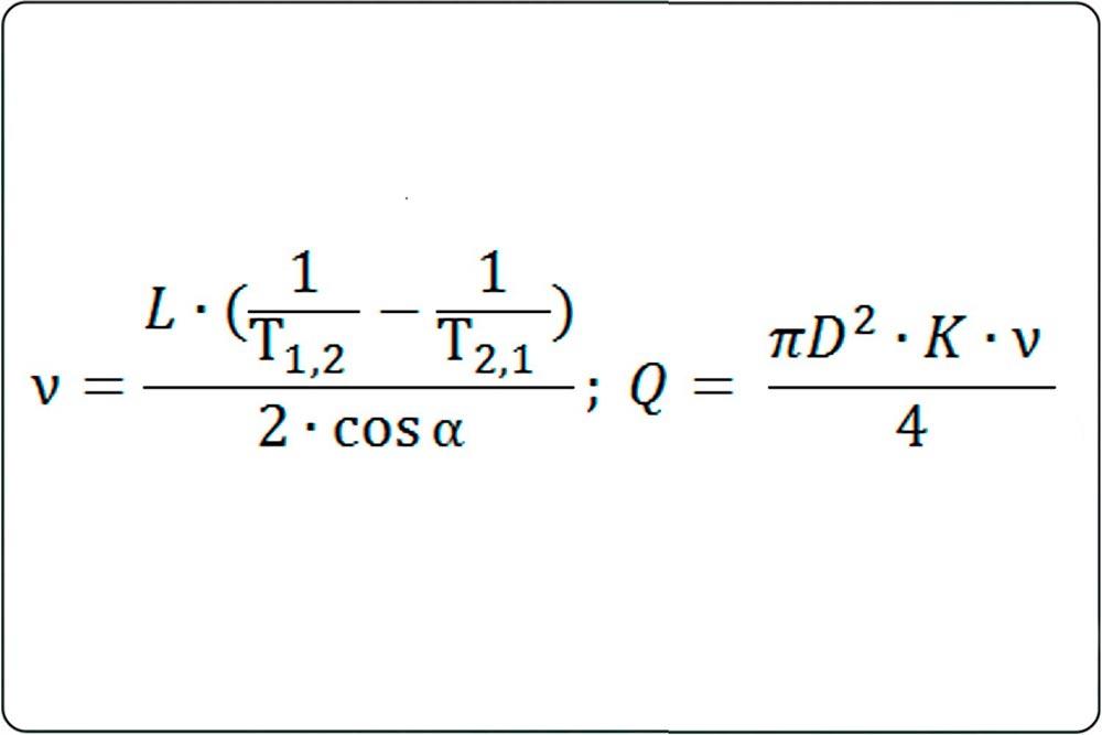 Они измеряют разницу времени прохождения ультразвуковых импульсов по направлению потока жидкости и против него, электронный блок расходомера вычисляет значения расхода.